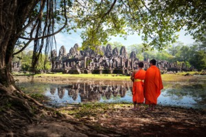 Monks at Angkor