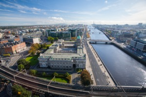 Aerial view of Dublin