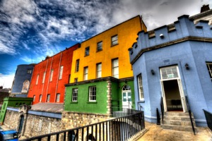 Colourful buildings at Dublin Castle