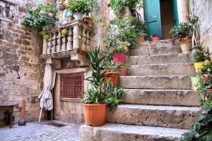 House in the old town of Trogir, Croatia