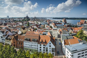 Aerial view of Rostock, Germany