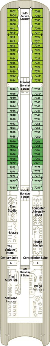 Crystal Serenity Deck Plans - Deck 7