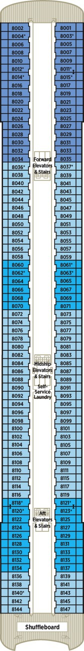 Crystal Serenity Deck Plans - Deck 8