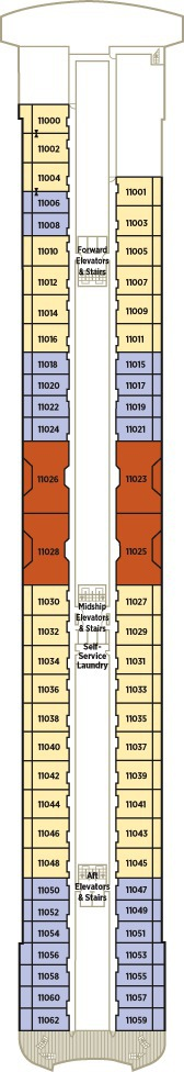 Crystal Serenity Deck Plans - Deck 11