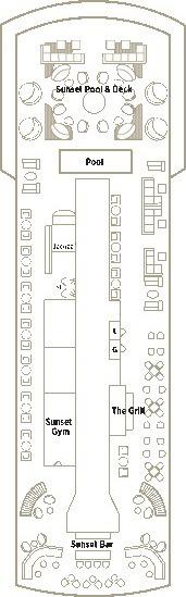 Crystal Esprit Deck Plans - Sunset Deck