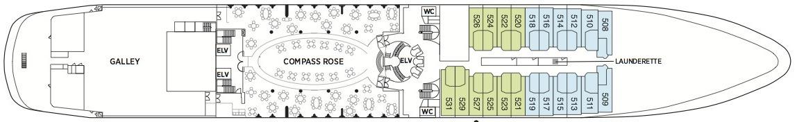 Regent Seven Seas Navigator deck plans - Deck 5