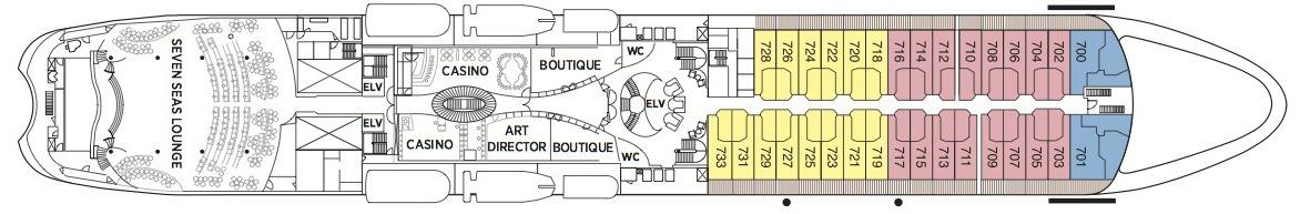 Regent Seven Seas Navigator deck plans - Deck 7