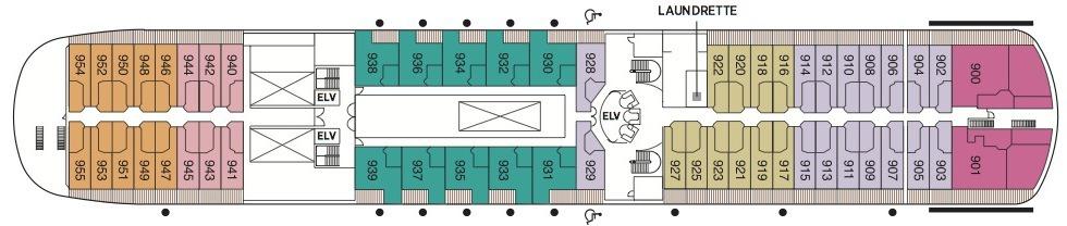 Regent Seven Seas Navigator deck plans - Deck 9