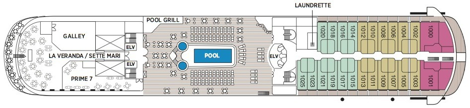 Regent Seven Seas Navigator deck plans - Deck 10