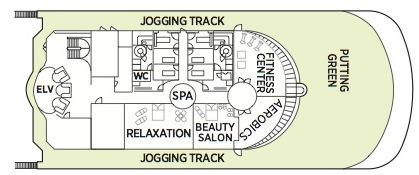 Regent Seven Seas Navigator deck plans - Deck 12
