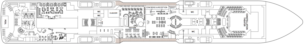Regent Seven Seas Explorer deck plans - Deck 5