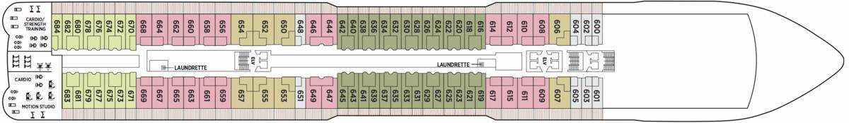 Regent Seven Seas Explorer deck plans - Deck 6