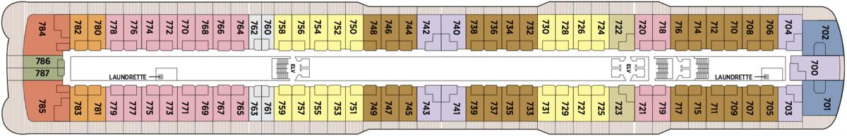 Regent Seven Seas Explorer deck plans - Deck 7