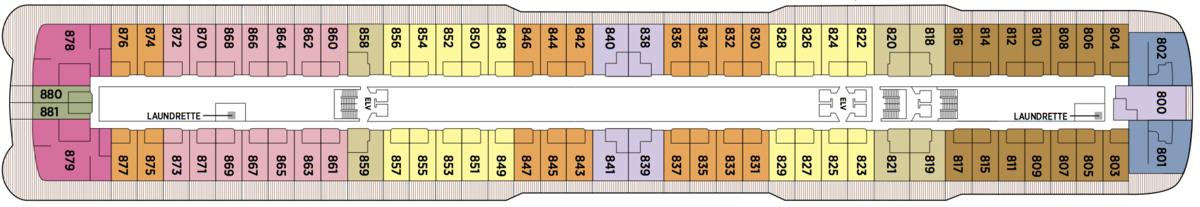 Regent Seven Seas Explorer deck plans - Deck 8