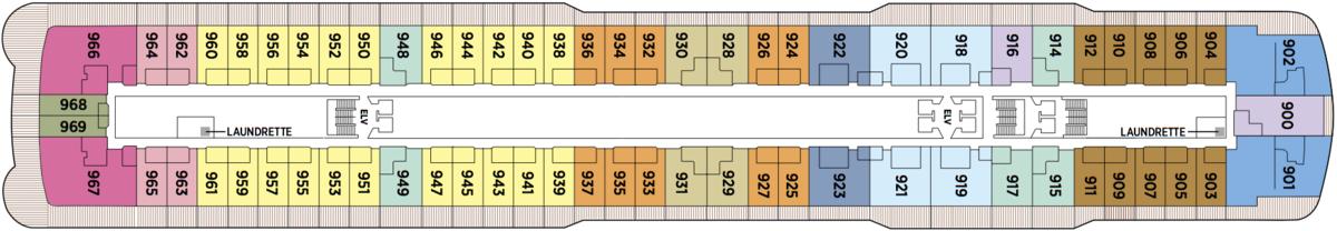 Regent Seven Seas Explorer deck plans - Deck 9