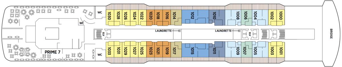 Regent Seven Seas Explorer deck plans - Deck 10