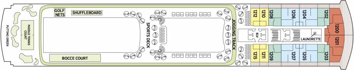 Regent Seven Seas Explorer deck plans - Deck 12