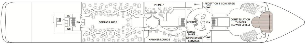 Regent Seven Seas Mariner deck plans - Deck 5