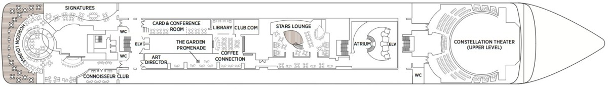Regent Seven Seas Mariner deck plans - Deck 6