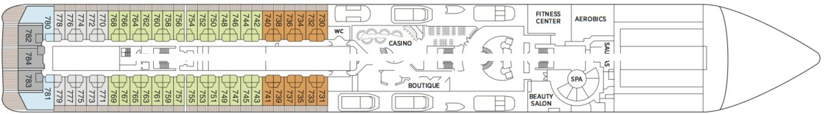 Regent Seven Seas Mariner deck plans - Deck 7