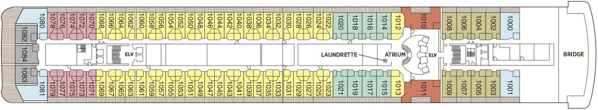Regent Seven Seas Mariner deck plans - Deck 10