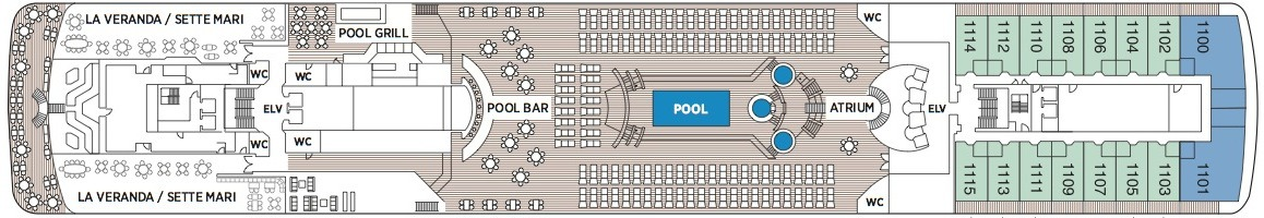 Regent Seven Seas Mariner deck plans - Deck 11