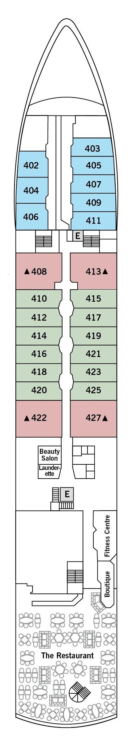 Silver Explorer deck plans - Deck 4