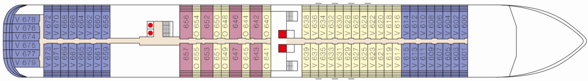 MS Europa 2 deck plans - Deck 6
