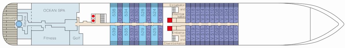 MS Europa 2 deck plans - Deck 5