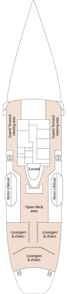 Hebridean Princess deck plans - Boat Deck