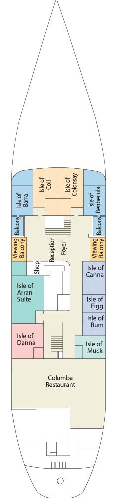 Hebridean Princess deck plans - Promenade Deck