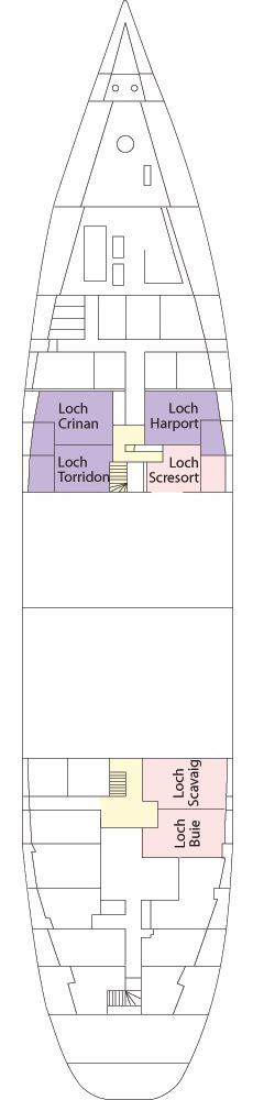 Hebridean Princess deck plans - Hebridean Deck