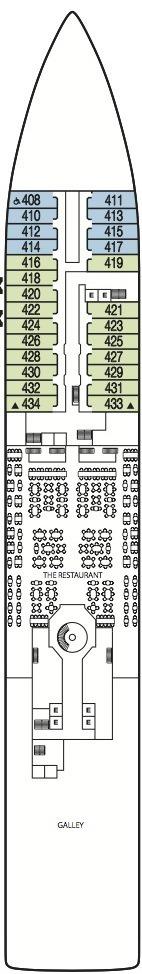 Seabourn Odyssey, Sojourn & Quest deck plans - Deck 4
