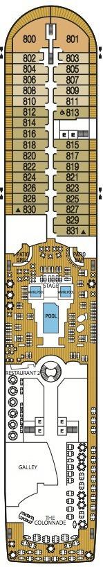 Seabourn Odyssey, Sojourn & Quest deck plans - Deck 8