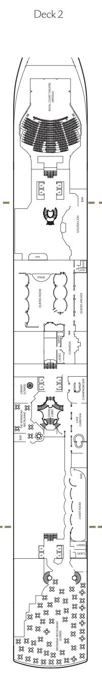 Queen Victoria deck plans - Deck 2