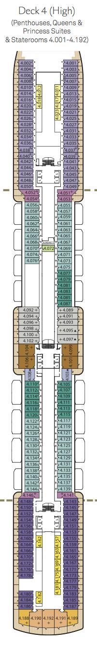 Queen Victoria deck plans - Deck 4