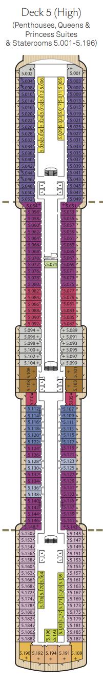 Queen Victoria deck plans - Deck 5