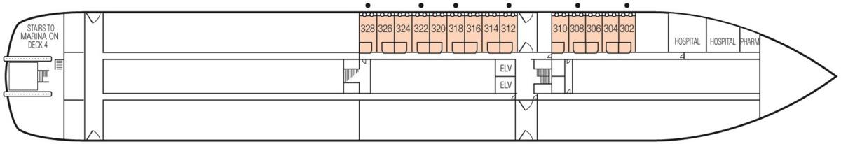 MS Paul Gauguin deck plans - Deck 3