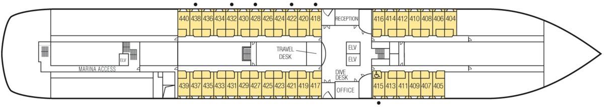 MS Paul Gauguin deck plans - Deck 4