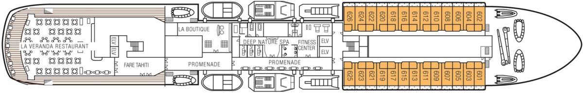 MS Paul Gauguin deck plans - Deck 6