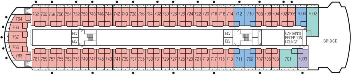 MS Paul Gauguin deck plans - Deck 7