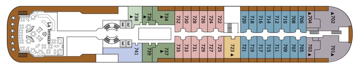 Silver Wind deck plans - Deck 7