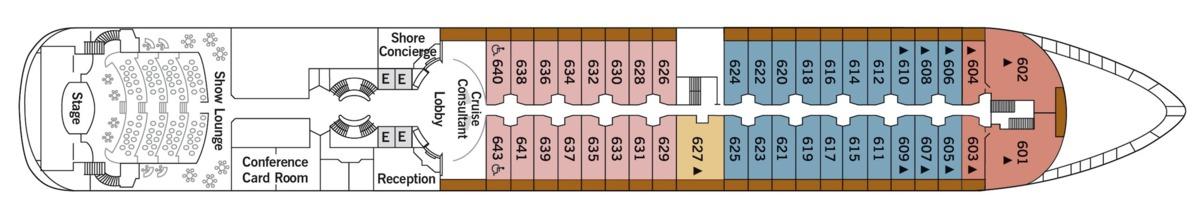 Silver Wind deck plans - Deck 6