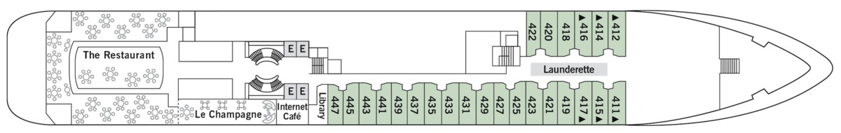 Silver Wind deck plans - Deck 4