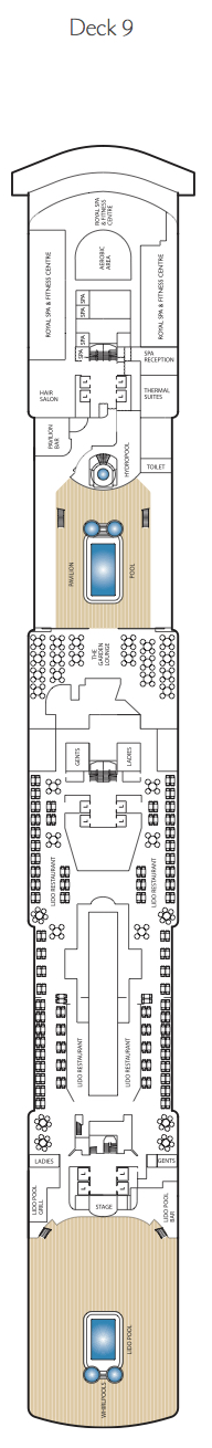 Queen Elizabeth deck plans - Deck 9