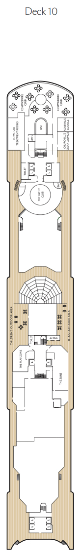 Queen Elizabeth deck plans - Deck 10