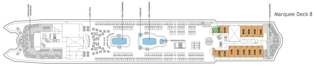 Fred. Olsen - Braemar deck plans: Marquee Deck 8