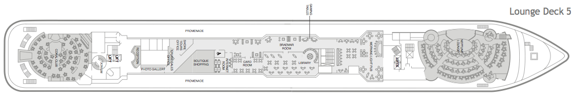 Fred. Olsen - Braemar deck plans: Lounge Deck 5