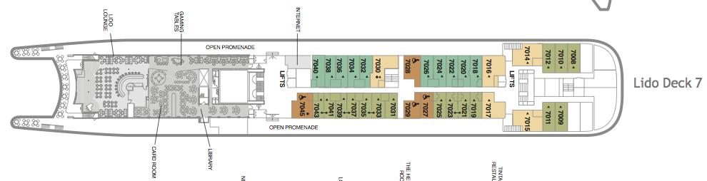 Fred. Olsen - Boudicca deck plans: Lido Deck 7