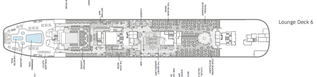 Fred. Olsen - Boudicca deck plans: Lounge Deck 6
